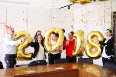 2018 New Year office party Stock Images