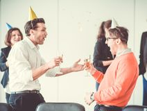 New Year office party Royalty Free Stock Photo