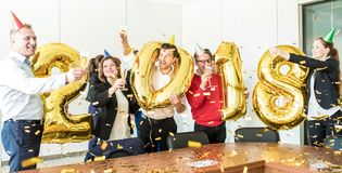 2018 New Year office party Stock Photos