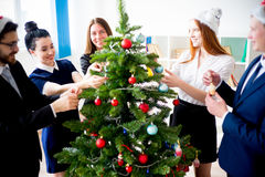 New year office party Royalty Free Stock Image