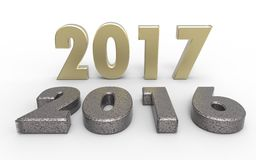 New year 2017. With old year 2016 Stock Images