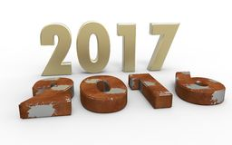 New year 2017. With old year 2016 Royalty Free Stock Photo