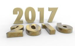 New year 2017. With old year 2016 Royalty Free Stock Photos