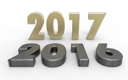 New year 2017. With old year 2016 Royalty Free Stock Image