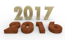 New year 2017. With old year 2016 Royalty Free Stock Images