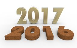 New year 2017. With old year 2016 Stock Image