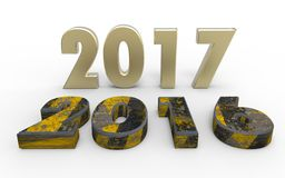 New year 2017. With old year 2016 vector illustration