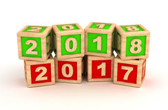 New Year 2018 and old 2017 Royalty Free Stock Images