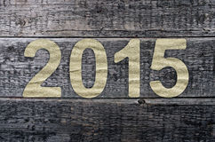 New Year 2015, Old  wood background Stock Images