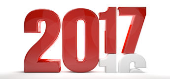 2017 new year and 2016 old year 3d. Render stock illustration
