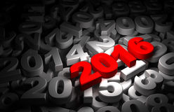 New Year 2016 and Olds Royalty Free Stock Photos