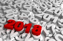 New Year 2018 and Olds Royalty Free Stock Photo
