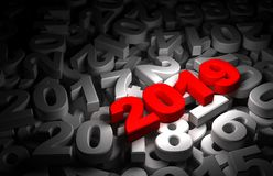 New Year 2019 and Olds. Computer generated image Stock Photo