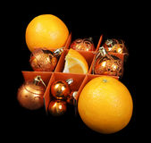 New year oranges Royalty Free Stock Photography