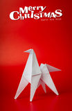 New year 2014 origami paper horse. Background Royalty Free Stock Photos