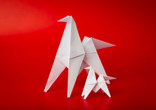 New year 2014 origami paper horse. Background Royalty Free Stock Images