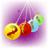 New year ornaments Stock Image