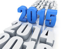 New year 2015 and other years. In white background Royalty Free Stock Images