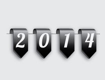 New year 2014. Over gray background vector illustration stock illustration