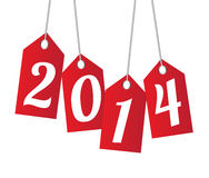 New year 2014. Over white background vector illustration stock illustration