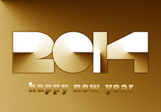 2014 new year paper effect. 2014 new year card paper effect Royalty Free Stock Photo