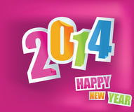 New Year 2014 royalty free illustration