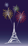 New Year in Paris Stock Images
