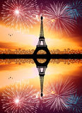 New Year in Paris Stock Photography