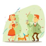 New Year party. Illustration Stock Photography