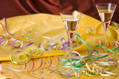 New year party. With champagne Stock Photography