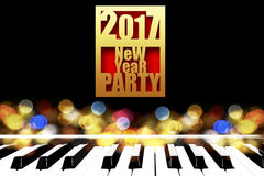 2017 New Year Party Background. Royalty Free Stock Images