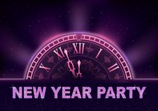 New Year Party Background in Purple Tones royalty free illustration