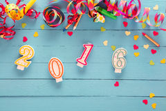 2016 New Year party background Stock Photo