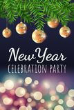 New year party banner stock illustration