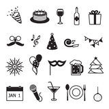 New Year Party And Celebration Items Stock Photo