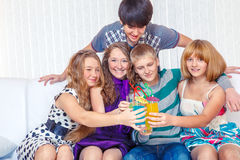 New Year party Stock Image