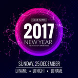 New year 2017 party and Christmas party poster template design.. Disco night banner flyer. New year Holiday celebration invitation Stock Photography