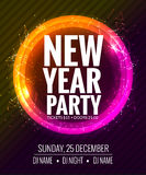 New year party and Christmas party poster template design. Disco night banner flyer. New year Holiday celebration Stock Images