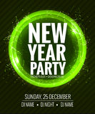 New year party and Christmas party poster template design. Disco night banner flyer. New year Holiday celebration invitation.  Royalty Free Stock Images