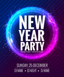 New year party and Christmas party poster template design. Disco night banner flyer. New year Holiday celebration invitation.  Royalty Free Stock Photos