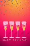 New year party congratulating. Vector Royalty Free Stock Photo