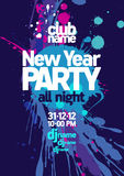 New Year Party design. Royalty Free Stock Images