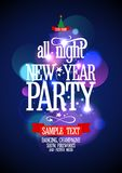 New Year Party design with bokeh. Royalty Free Stock Image
