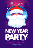 New Year Party design template. New Year Party design template with Santa and place for text Royalty Free Stock Images