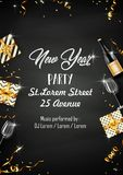 New year party design template with elements. Illustration of New year party design template with elements Royalty Free Stock Image