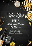 New year party design template with elements. Illustration of New year party design template with elements vector illustration