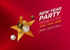 New Year Party Design Template vector illustration