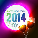 New year party design. Vector 2014 party design illustration Stock Images