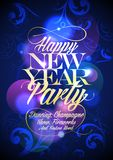 New Year party floral design. Royalty Free Stock Photo