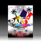 New Year Party Flyer Design Royalty Free Stock Photography